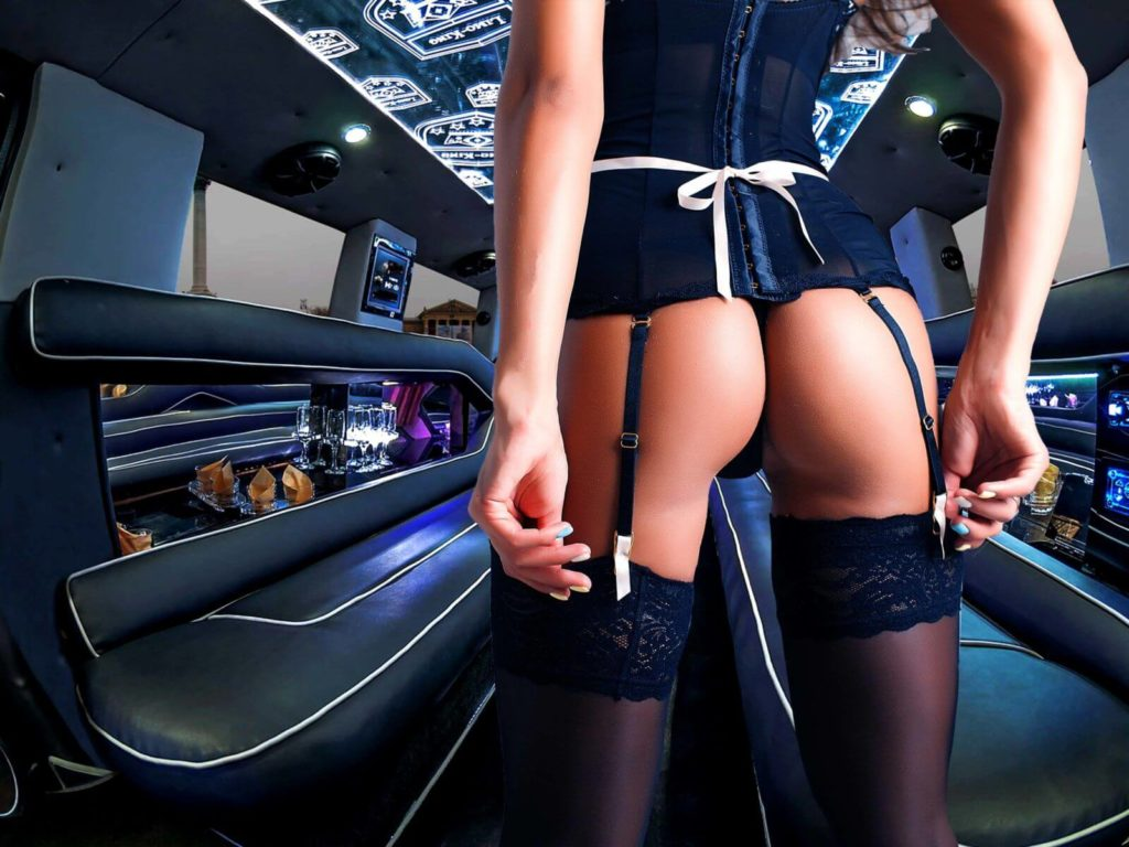 Stripper on a Limo